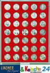 LINDNER Münzbox Münzboxen für 35 Münzen 30 mm Ø 3 Reichsmark 1 Unze Meaple Leaf Gold Rauchglas 2725