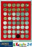 LINDNER Münzbox Münzboxen 48 x 30 mm Münzen quadratischen Vertiefungen 5 DM 5 Euro ÖS Rauchglas 2748