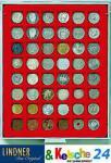 LINDNER Münzbox Münzboxen 48 x 28 mm Münzen quadratische Vertiefungen 100 Goldeuro Rauchglas 2749