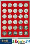 LINDNER Münzbox Münzboxen für 30 Münzen 34 mm Ø 20 Mark DDR - 100 Schilling - 20 CHF Rauchglas 2750