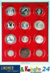 LINDNER 2612 MÜNZBOXEN Münzbox Rauchglas 12 x 58 mm Münzen in Münzkapseln