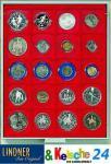 LINDNER Münzbox Münzboxen 20 x 51 mm Münzen kleine quadratische Inletts Rauchglas 2621