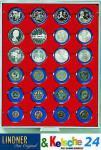 LINDNER Münzbox Münzboxen 24 x 41 mm Münzen in Münzkapseln Standard 2224
