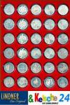 LINDNER 2626 MÜNZBOXEN Münzbox Rauchglas Dunkelrot Für 30x 39 mm 10 & 20 EURO 10 DM 10 & 20 Mark DDR Gedenkmünzen Münzen in Münzkapseln