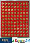LINDNER Münzbox 99 runde Vertief. 18, 5 Ø Rauchglas