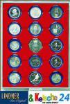 LINDNER 2515 Münzbox Münzboxen Standard 15 x 51 mm Münzen in Münzkapseln
