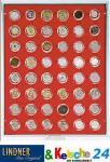 LINDNER Münzbox Münzboxen 48x 2 / 10 EURO Cent 2 Pfennig 50 Pfennig in Münzkapseln Rauchglas 2948
