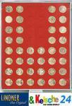 LINDNER Münzbox Münzboxen für 48 Stück 50 Euromünzen Euro Cent 24, 25 mm Rauchglas 2949