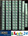 10 x LINDNER 838 Klarsichthüllen Schwarz 8 senkrechte Streifen 28 x 290 mm Für Rollenmarken