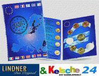 5 x LINDNER EURO-Taschenbuch 1Cent 2 € Kursmünzen