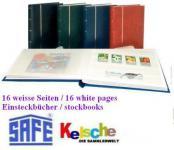 SAFE 110 Einsteckbuch Album 16 weisse Seiten A4 SCH