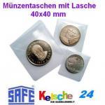 SAFE Münztaschen Münzentaschen + Lasche kun 40x40 1