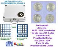 SAFE ALU COIN CASES US Presidential Dollar 6 trays