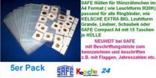 50 Hüllen f. Münzrähmchen SAFE Nr.435XL A4 Format -