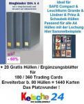20 Hüllen Yu-Gi-Oh Karten f. 360St + Kelsche Ringbi