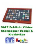 SAFE 5865 Holz Sammelvitrinen Vitrinen für 60 Kronkorken Champagnerdeckel Champagerkapseln & Kronkorken