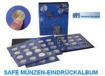 SAFE 7311 TOPset Münzalbum Ringbinder 10 EUROMÜNZEN in Münzkapseln 32, 5 PP - 2002 - 2015
