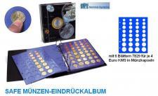 SAFE 7317 TOPset Münzalbum mit 6 Blättern 24x EUROMÜNZEN KMS Kursmünzensätze 1 Cent bis 2 Euromünzen in Münzkapseln 26 zum eindrücken