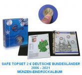 SAFE 7821-B2 TOPset 2 EUROMÜNZEN Deutsche Bundesländer Münzalbum inclusive 11 Münzblatt Band 2 ab 2016 - 2006-2021