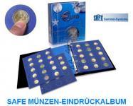 SAFE 7302-B2 TOPset Münzalbum 2 EUROMÜNZEN in Münzkapseln 26 + 9 Blätttern + Vordrucke 2012 - 2015