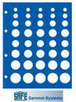 1 x SAFE 7842 TOPset Münzblätter für 5x DM KMS Kursmünzensätze 1 Pfennig - 5 DM Münzen