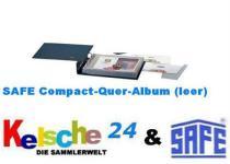 SAFE 7990 Compact-Quer Ringbinder Album Standard Blau 312x200x65 mm (leer) zum selbstbefüllen Für ETB, Briefe, FDC, Postkarten