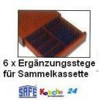 SAFE 8570 Ergänzungsstege Set für Echtholz Sammelkassette 6880