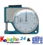 SAFE Dickenmeßgerät - Dickenmesser - Dickenmessgerät Pocket - Messgenauigkeit 1/100 mm. Zwischenwerte (5/1000mm) sind ablesbar.
