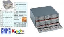 SAFE 6114 BEBA Filzeinlagen BLAU für Schubladen Schuber 6104 Münzboxen 6604 Maxi Münzkasten