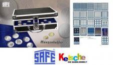 Safe-ALU Münzenkoffer DIAMANT BLACK 276 mit 6 Table