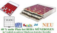 SAFE BEBA MÜNZBOXEN MB6105R ROT f. 25 Münzrähmchen
