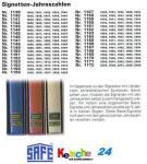 SAFE 1150 SIGNETTEN Jahreszahlen Year dates 1895-18