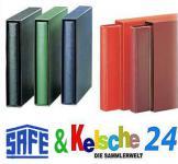 SAFE Set 704-1 Ringbinder Favorit Morocco + 712-1 Schutzkassette Weinrot / Rot