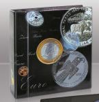 SAFE 7385 TOPset & Coin Compact Artline Münzalbum Ringbinder Schwarz im Münzen Design (leer)