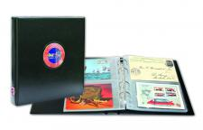 """SAFE 7335 PREMIUM Postkartenalbum """" Premium """" mit 20 Hüllen für 80 Ansichtskarten Postkarten Briefe FDC"""