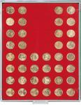 LINDNER 2549 Münzbox Münzboxen Standard 48 x 24, 25 mm für 48 Stück 50 Cent Euro - US Quarters