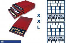SAFE 6868 XXL Nova Exquisite Holz Münzboxen Schubladenelement mit 2 Tableaus 6368 und 27 Fächer Mixed 23 28 31 34 36 39 mm Ideal für Anfänger Starterbox