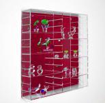 SAFE 5221 Velours-Rückwand Karminrot Rot für die Präsentations - Vitrinen 5210
