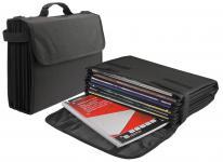 SAFE 196 Schwarze Nylon Organizer Bag Europe Style mit 8 universal Fächern für Schule Ausbildung Studium Beruf