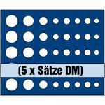 1 x SAFE 6332 SP Tableaus / Einsätze SMART 5 komplette DM Kursmünzensätze KMS 1 Pfennig - 5 DM