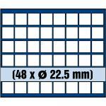 1 x SAFE 6322 SP Tableaus / Einsätze SMART mit 48 eckigen Fächern 22, 5 mm 5 - 10 - 20 Euro Cent & 10 + 50 Pfennig