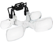 Lindner 7169 - D ESCHENBACH Vorsatzlupe MaxDetail CLIP 2 fache Vergrößerung - Ideal für Brillenträger