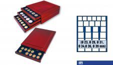 SAFE 6868 Nova Exquisite Holz Münzboxen Schubladenelement 27 Fächer Mixed 23 28 31 34 36 39 mm Ideal für Anfänger Starterbox