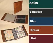 """KOBRA G24 Schwarz Universal Doppel-FDC-Album Sammelalbum """" XL """" 10 Blättern Für 40 Fotos Bilder FDC Briefe Postkarten Ansichtskarten"""