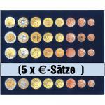 1 x SAFE 6340 SP Tableaus / Einsätze SMART für 5 komplette Euro Kursmünzensätze von 1 Cent - 2 Euro Münzen