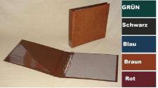 KOBRA G40B Hellbraun - Braun Liebigbilder Album Sammelalbum Ringbinder (leer) zum selbst befüllen für bis zu 40 Blätter Für Sammelbilder Reklamebilder Liebigbilder