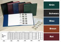 KOBRA FR-SO Blau Münzalbum Album Ringbinder + 5 Münzblättern Mixed + weisse Zwischenblättern ZWL Für 143 Münzen