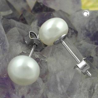 Ohrstecker SWZ Perle 7 mm 925 Silber