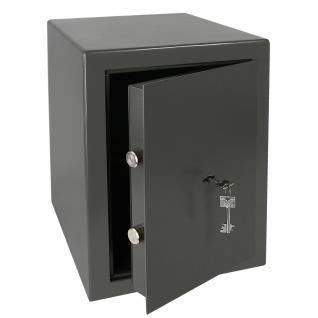 HMF 43200-1111 Möbeltresor Safe Doppelbartschloss, Sicherheitsstufe B, VDMA 24992, 30 x 42 x 38 cm, Tresor, Anthrazit