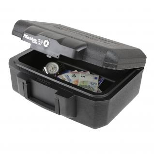 Feuerfeste Dokumentenkassette Master Lock L1200, 36, 2 x 28, 4 x 15, 5 cm, schwarz